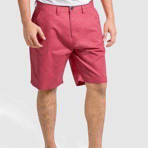 OLGYN Men's Slim Fit Pink Chino Shorts